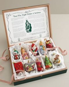 twas the night before christmas boxed ornament set christmas swags christmas mood retro - Twas The Night Before Christmas Decorating Ideas