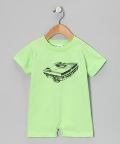 Take a look at this Key Lime Muscle Car Romper - Infant by American Classics on #zulily today!
