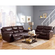 Superieur Nebraska Furniture Mart U2013 Ashley Brown Reclining Sofa And Loveseat  (upstairs Living Room Set)