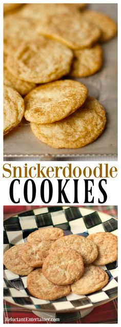 Snickerdoodle Cookies, make-ahead recipe, easy to bake right before guests…