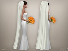 Wedding veil 05 for The Sims 4 by BEO