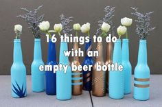 16 things to do with an empty beer bottle. DIY Beer