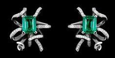 Lorenz Bäumer Chaque émeraude est soulignée par des volutes de diamants.