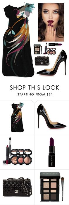 """Untitled #2667"" by kotnourka ❤ liked on Polyvore featuring Roberto Cavalli, Christian Louboutin, Laura Geller, Smashbox and Bobbi Brown Cosmetics"