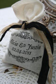 WEDDING FAVOR -  Bridal Shower Favor - Lavender or Tea filled sachet - French, Rustic, Wonderland, Woodland, Beach, Vintage via Etsy