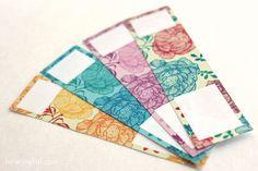Free – Peony pattern wrap around labels | How Joyful