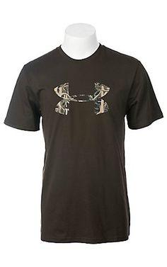 Under Armour® Men's Chocolate w/ Camo UA Logo T-Shirt | Cavender's Boot City
