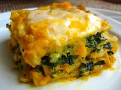 Try a new spin on lasagna with this recipe using butternut squash, spinach and cheese. 1 large butternut squash 2 cloves garlic, crushed 1 tbsp honey 1 tsp oregano 1 tsp basil salt and pepper, to taste 1 10 oz package chopped frozen spinach, cooked and drained 2 cups cottage cheese 12 cooked whole wheat lasagna noodles …