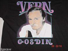 VERN GOSDIN VINTAGE T SHIRT CONCERT 1989 BRAND NEW NEVER BEEN WORN