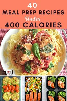40 Meal Prep Recipes Under 400 Calories Want meal prep recipes that are also low calorie recipes? These 40 easy meal prep recipes won't break your calorie budget because they're all under 400 calories each! You will love all of these clean eating recipes. Low Carb Low Calorie, Low Calorie Meal Plans, Healthy Low Calorie Meals, Low Calorie Dinners, No Calorie Foods, Healthy Meal Prep, Low Calorie Recipes, Diet Recipes, Foods With No Calories