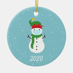 Christmas Face Mask Snowman 2020 Ceramic Ornament - tap/click to get yours right now! #CeramicOrnament #holiday, #christmas, #ornament, #2020, #coronavirus, Painted Ornaments, Snowman Ornaments, Personalized Christmas Ornaments, Holiday Ornaments, Holiday Cards, Snowmen, Best Christmas Gifts, Christmas Holidays, Christmas Crafts