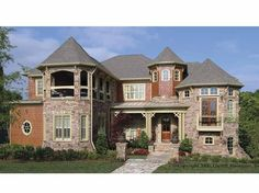 Victorian House Plan with 6354 Square Feet and 5 Bedrooms(s) from Dream Home Source   House Plan Code DHSW55528