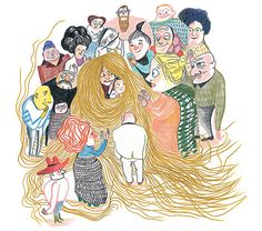 Illustration from 'Mère Méduse / Mother Medusa' by Kitty Crowther Graphic Design Illustration, Illustration Art, Character Concept, Character Design, Kitty Crowther, Mothers Day Poster, Mythological Characters, Funny Feeling, Mother And Child