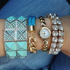 Aquamarine arm candy