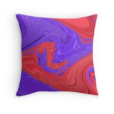 Red and Purple Spiral Waves Abstract Art Design creative and colorful by Adri of Minding My Visions  Get this cool design on throw pillows, cell phone cases, (iPhone or Galaxy), tote bags, laptop skin, duvet cover, clothing, cards, stickers, prints and more!   www.mindingmyvisions.com  https://www.facebook.com/mindingmyvisions