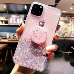 Bling Glitter Case With Stand Holder For iPhone 11 Pro Max XR X XS Max – Qiocase Iphone 6 S Plus, Iphone 8, Coque Iphone, Iphone 11 Pro Case, Iphone Phone Cases, Apple Iphone, Samsung Cases, Ed Wallpaper, Girly Phone Cases