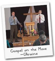 """THE PAUL AND BARNABAS MINISTRY- """"They preached the good news in that city and won a large number of disciples"""" (Acts 14:21-28 NIV) is an account of Paul and Barnabas taking the story of Jesus Christ to people everywhere. Believers in Ukraine are following that example—going from village to village, organizing Bible studies, presenting the gospel to individuals and small groups, and planting seeds of Christian community that become congregations. $90 per month"""