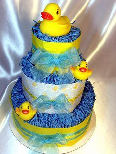 Diaper Cake for shower gift!