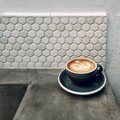 Coffee corner at @curiouspalette in Singapore- image @cinonyx #acmecups #specialtycoffee #tiles #acmeforlife