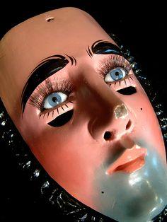 Mexican Parachicos Mask used in La danza de los Parachicos in Chiapas Mexico