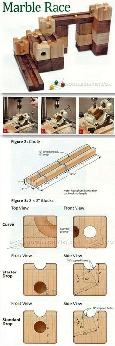 DIY Marble Race - Wooden Toy Plans and Projects | http://WoodArchivist.com