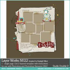 Layer Works No. 022- Studio Double-D Templates- LT228461- DesignerDigitals