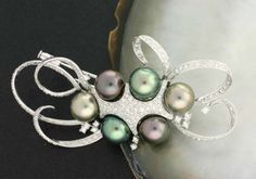 Tahitian Black Pearl Brooch – 1581 | Your #1 Source for Jewelry and Accessories