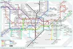 London Underground Map: If you are a fan or resident or fan of London than this is the poster for you. This poster features an actual London Underground Subway location route map. London Underground, Underground Lines, London Tube Map, London Map, London Travel, U Bahn Plan, Coachella, London Transport Museum, Frames