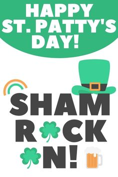 shamrock on happy st patricks day image