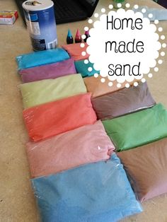 Create homemade colored sand for when your children are bored! This craft will give them fun play time!