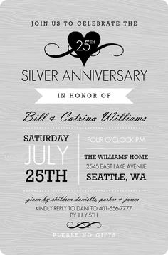 1000+ images about Anniversary Invitations on Pinterest Anniversary ...