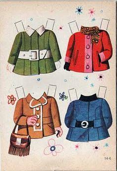 casacos @ bonecas de papel