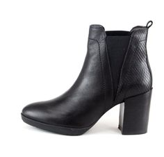 OVERIDER 'Anais' Leather Ankle Boots, rock the look with these cool pull-on heeled boots, they'll look great with skinny jeans and chunky knit jumper or team with a dress and bare legs for a great look. Leather Ankle Boots, Heeled Boots, Shoe Boots, Chunky Knit Jumper, Looks Great, Skinny Jeans, Booty, Legs, Fashion