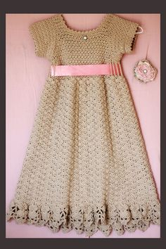 Always A Lady  Crochet Pattern Sundress and Flower pattern