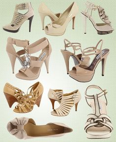 Skin toned heels for shoes. Something that is light and blends in... and hopefully is super comfy?? (Don't worry, you just have to make it through the ceremony :)  )