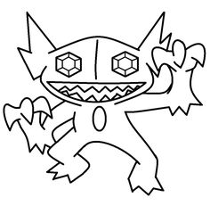 One Sableye Template For I Changed The Quality So Its A Lot Better Now Thanx To My New Skills Belongs Nintendo And Pokemon Company Rules