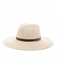Sole Society Braided Straw Sun Hat W/ Band
