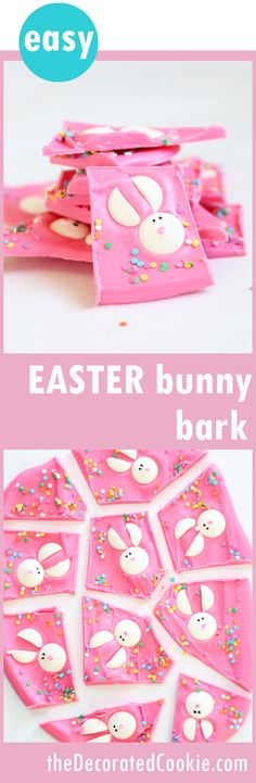 cute and easy EASTER bunny chocolate bark