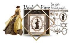 """Digital papers"" by dragonflyadele ❤ liked on Polyvore featuring etsy, homeset, etsyfru and FriendsRUs"