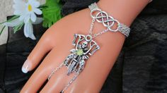 Motorcycle Bracelet Hand Chain Infinity Ring Slave by JWBoutique1, $20.00