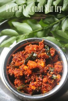 This is a simple coconut based prawn dish. it is so flavourful and taste so delicious. You can have it with plain rice and rasam. Easy Prawn Recipes, Indian Prawn Recipes, Stir Fry Recipes, Veg Recipes, Curry Recipes, Seafood Recipes, Vegetarian Recipes, Cooking Recipes, Kerala Recipes