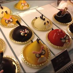 Angry bird cakes!