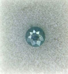 0.24TCW 3.4mm I2 Round rose cut Blue Green color Loose Natural Diamond for ring #NATURALROSECUTDIAMOND