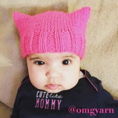 The Kitten Hat: Free Knit Pattern for the Littlest Resisters – OMG Yarn (balls)