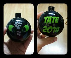 Personalized Toothless Dragon Ornament by SvnHeartsVinylCrafts