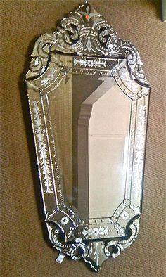 50 Charming U0026 Fabulous Bathroom Mirror Designs 2017   Venetian Mirrors,  Venetian And Powder Room