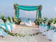 Boda en la  Riviera Maya / Altar de la boda /  opciones para las bodas que organiza playa local