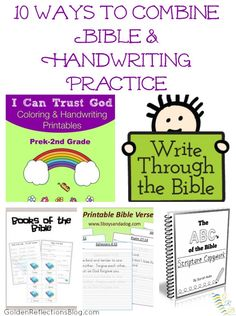 10 great ways to combine Bible and handwriting practice in your home! | www.GoldenReflectionsBlog.com