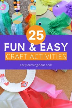 Check out 25 popular craft projects to do with kids. Use this visual library to find lots of fun activities to make with your preschoolers at home. Bug Crafts, Easy Craft Projects, Fun Crafts For Kids, Easy Crafts For Kids, Crafts To Do, Projects For Kids, Craft Ideas, Preschool Activities At Home, Spring Activities