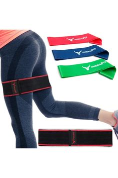 (This is an affiliate pin) PHERAL FIT Hip Bands - Elastic Fabric Band - Booty & Glute Exercise Band + 3 Resistance Loops Included | Hip Thruster Loop for Legs - Hips - Thighs & Booty Resistance Loops, Exercise Bands, Glutes, Thighs, Booty, Legs, Fitness, Fabric, Fashion
